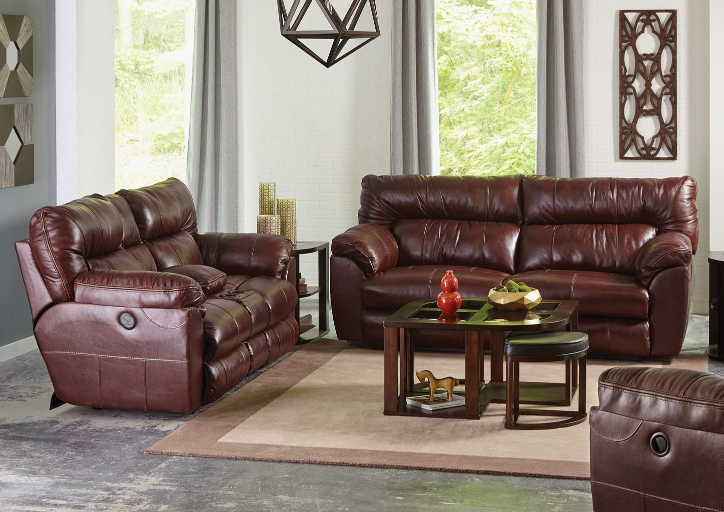 Midori 6 Pc Leather Power Reclining Sectional Sofa Www