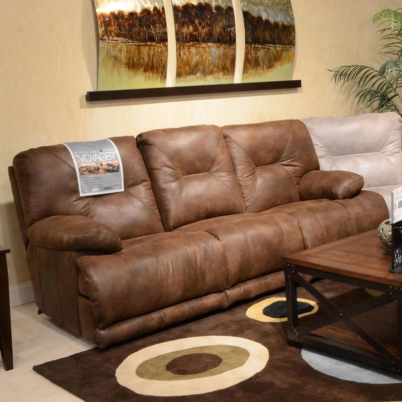 Voyager Lay Flat Reclining Sofa (Elk) by Catnapper | FurniturePick