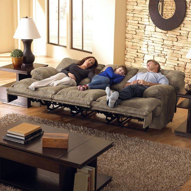 Voyager Lay Flat Triple Reclining Sofa