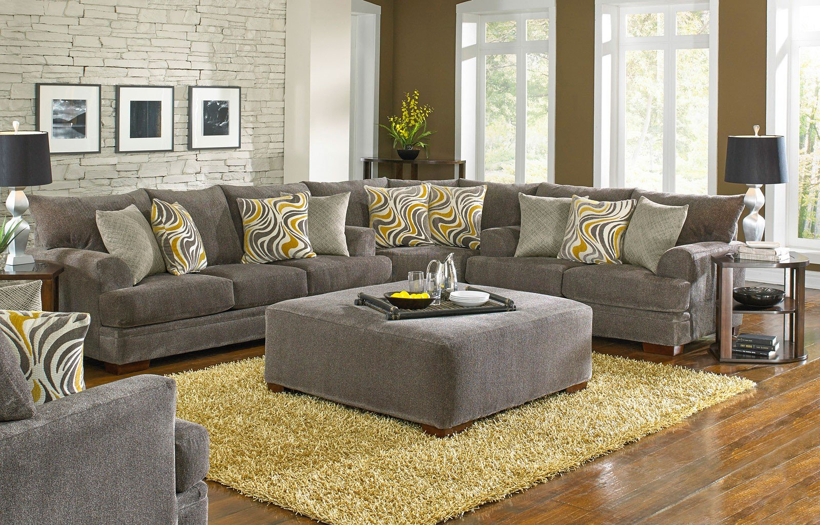 Crompton Sectional Set Pewter By Jackson Furniture