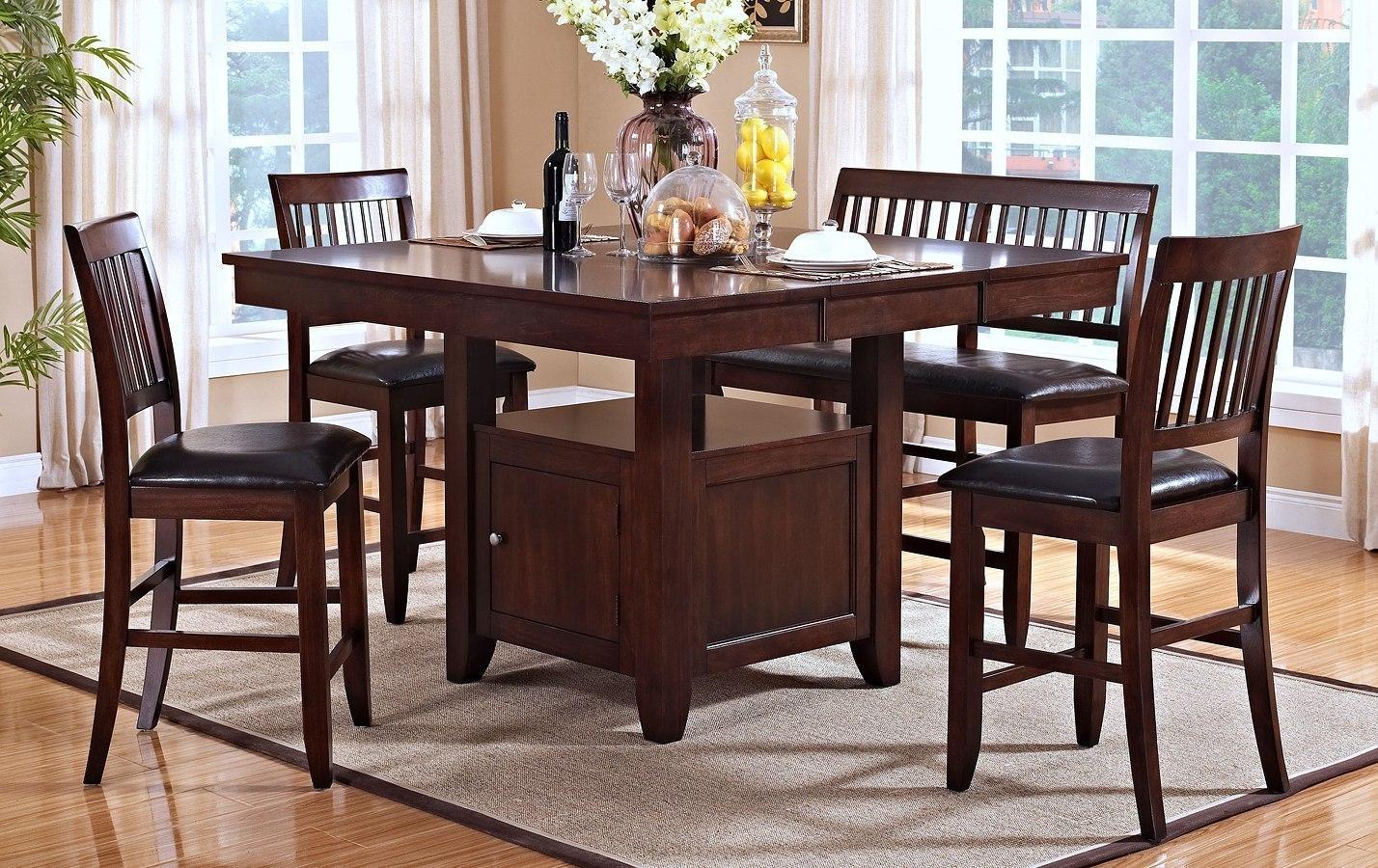 Kaylee Counter Height Dining Room Set (Tudor Brown)