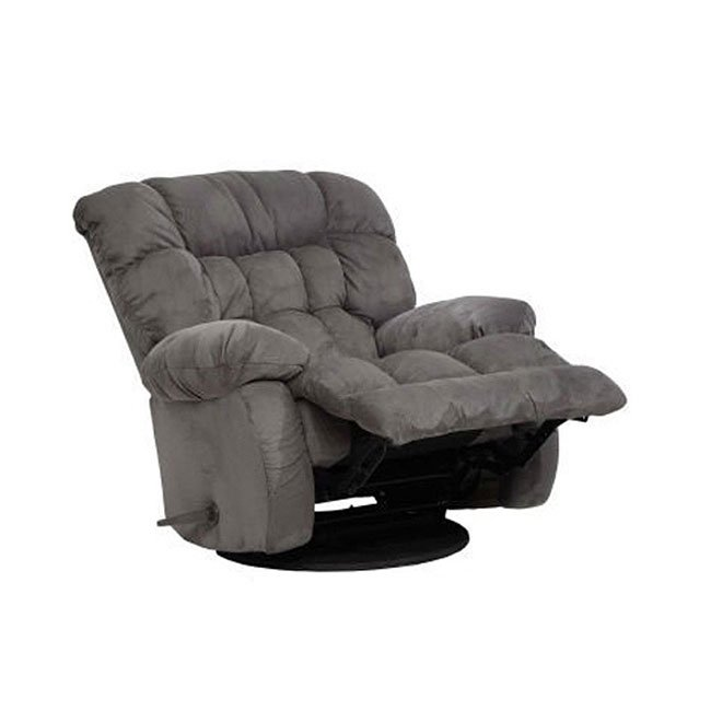 Teddy Bear Chaise Swivel Glider Recliner Graphite By