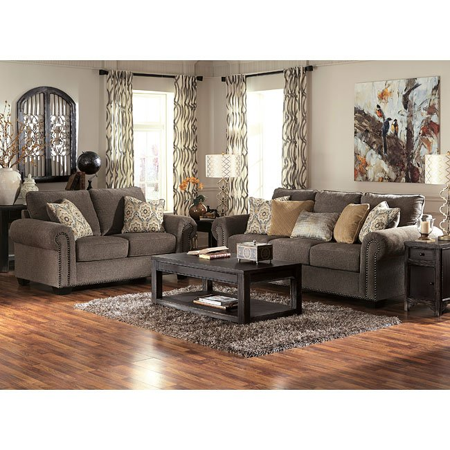 Emelen Alloy Living Room Set By Signature Design By Ashley