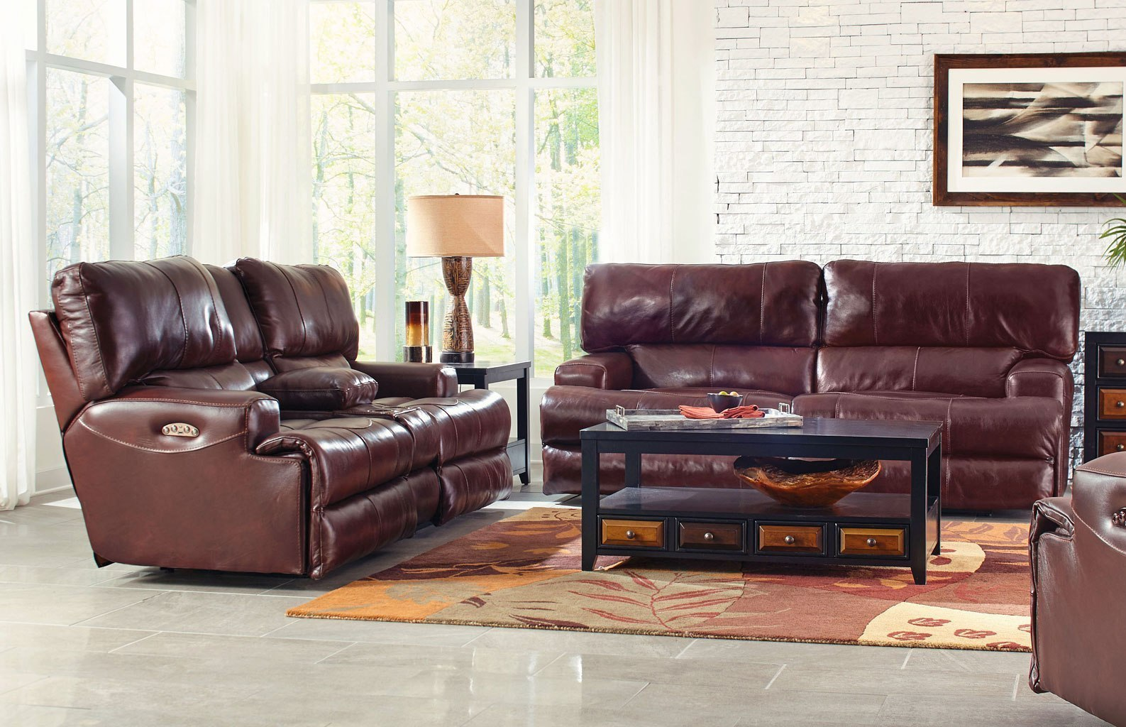 Stupendous Wembley Power Lay Flat Reclining Sectional Set W Power Headrests And Lumbar Walnut Pabps2019 Chair Design Images Pabps2019Com