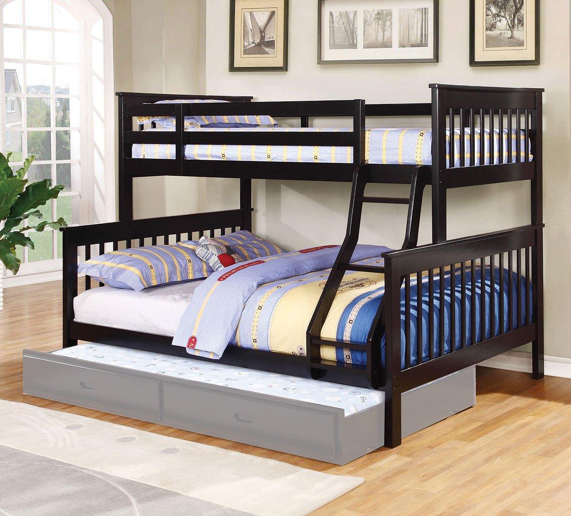 Chapman bunk bed black kids loft and bunk beds kids for Furniture n more beds