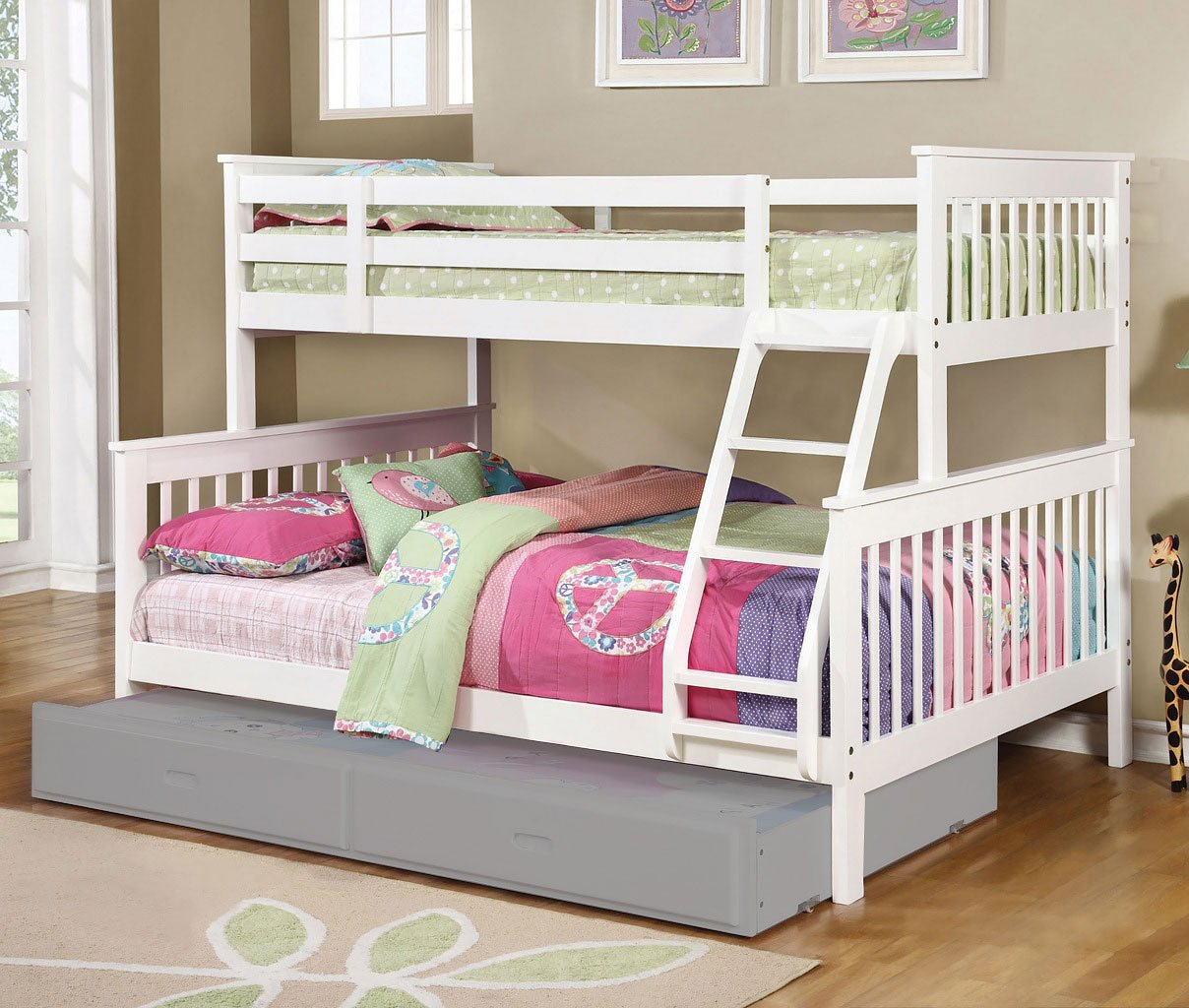 Chapman Twin Over Full Bunk Bed White Kids Loft And