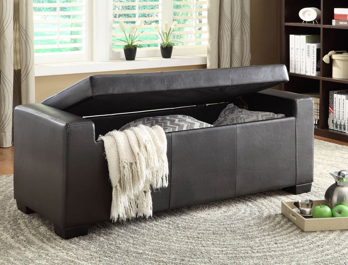 Tigard Lift Top Storage Ottoman