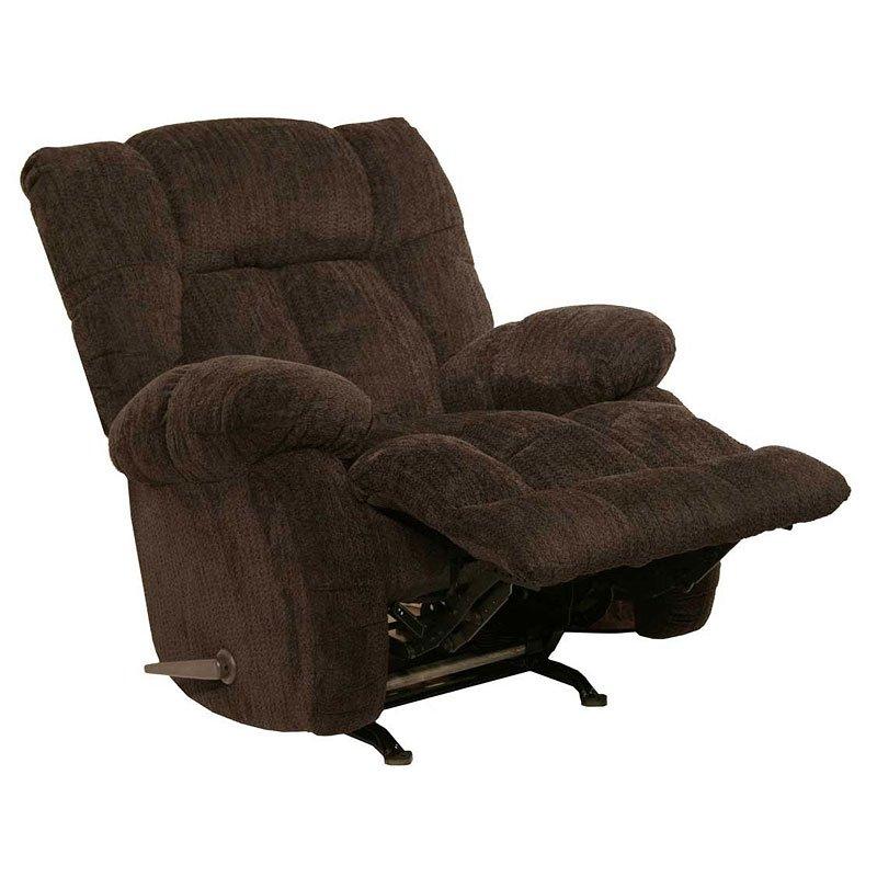 Laredo Sofa And Loveseat: Laredo Chaise Rocker Recliner (Chocolate) By Catnapper