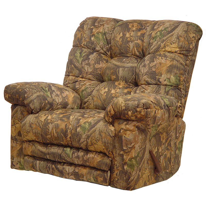 Magnum Rocker Recliner W Heat And Massage Mossy Oak