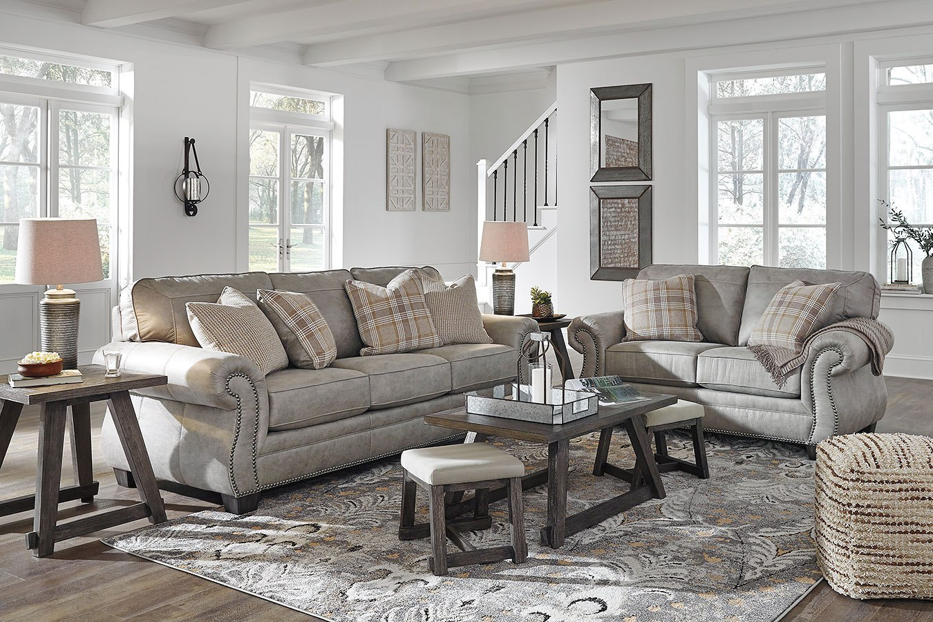 Olsberg Steel Living Room Set by Signature Design by Ashley ...