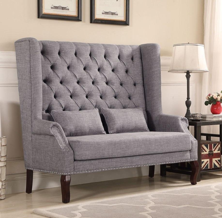 Kaylee Loveseat Bench Grey By Crown Mark Furniture