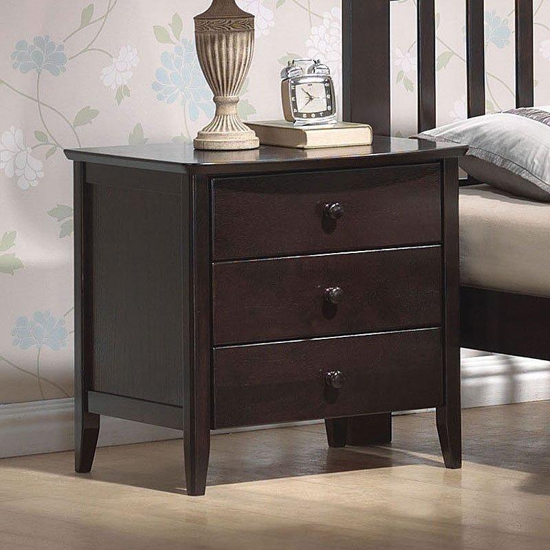 San Marino Nightstand Dark Walnut By Acme Furniture