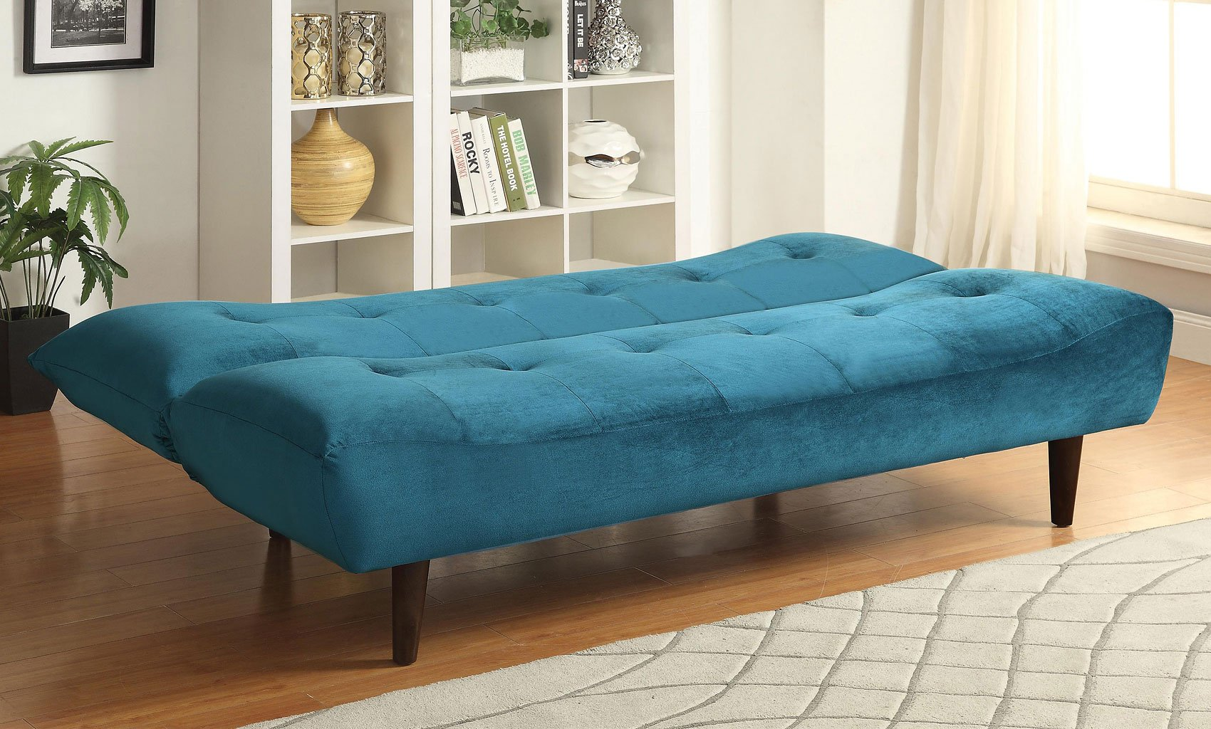 Teal Velvet Sofa Bed by Coaster Furniture   FurniturePick