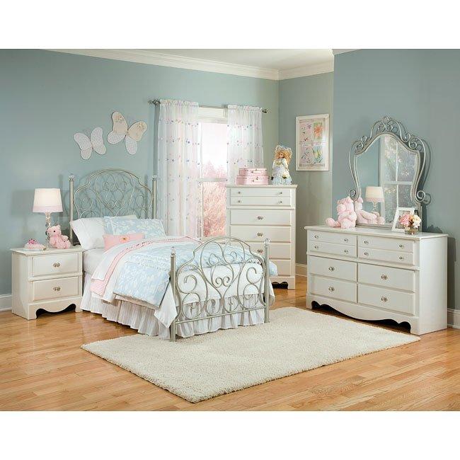 Spring Rose Metal Bedroom Set Standard Furniture