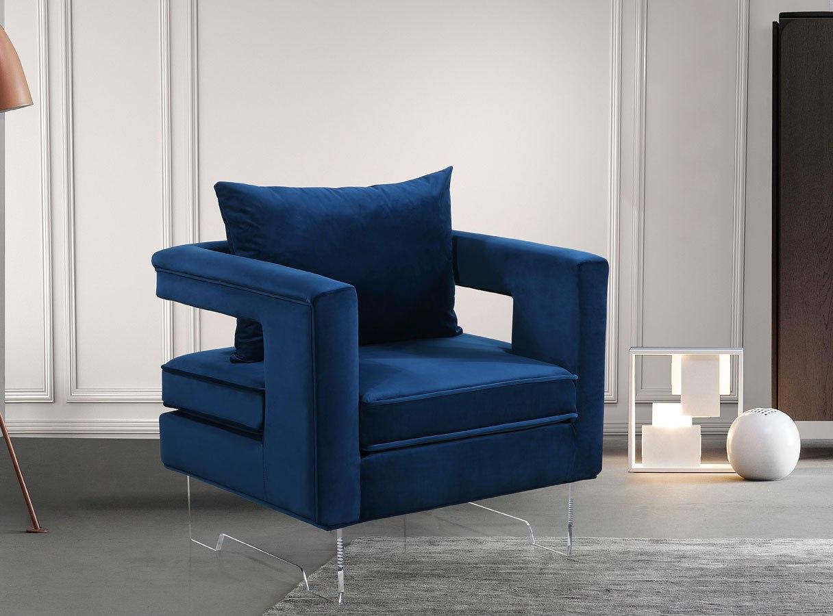 Chair Navy Velvet Accent Chair
