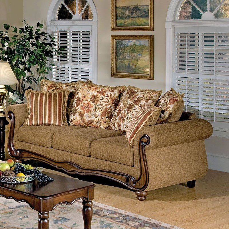 Olysseus Sofa (Brown Floral)