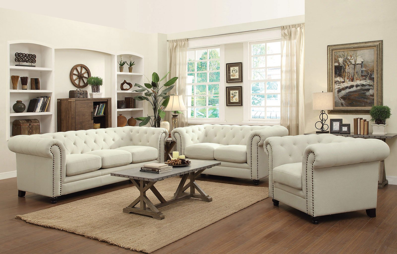 Roy Living Room Set (Oatmeal) by Coaster Furniture, 2 Review(s ...