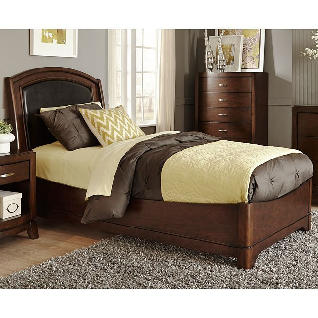 Avalon Youth Platform Bed W Upholstered Headboard By