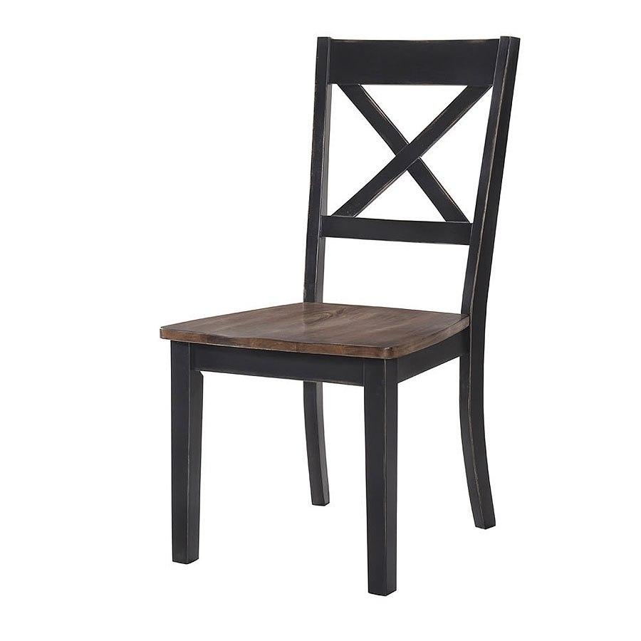 A La Carte Side Chair Black Cashew Set Of 2 By Lane