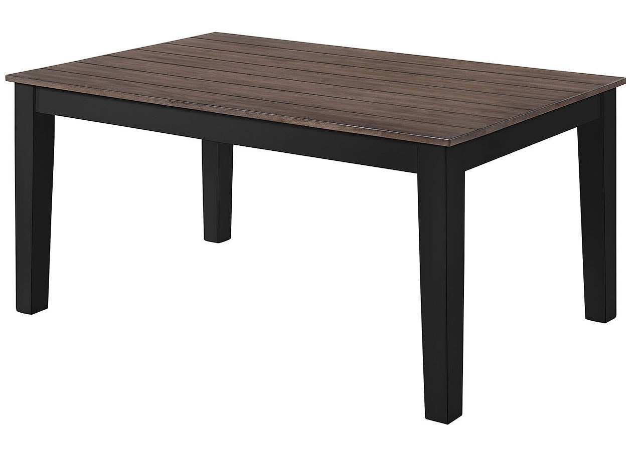 A La Carte Rectangular Dining Table Black Cashew By