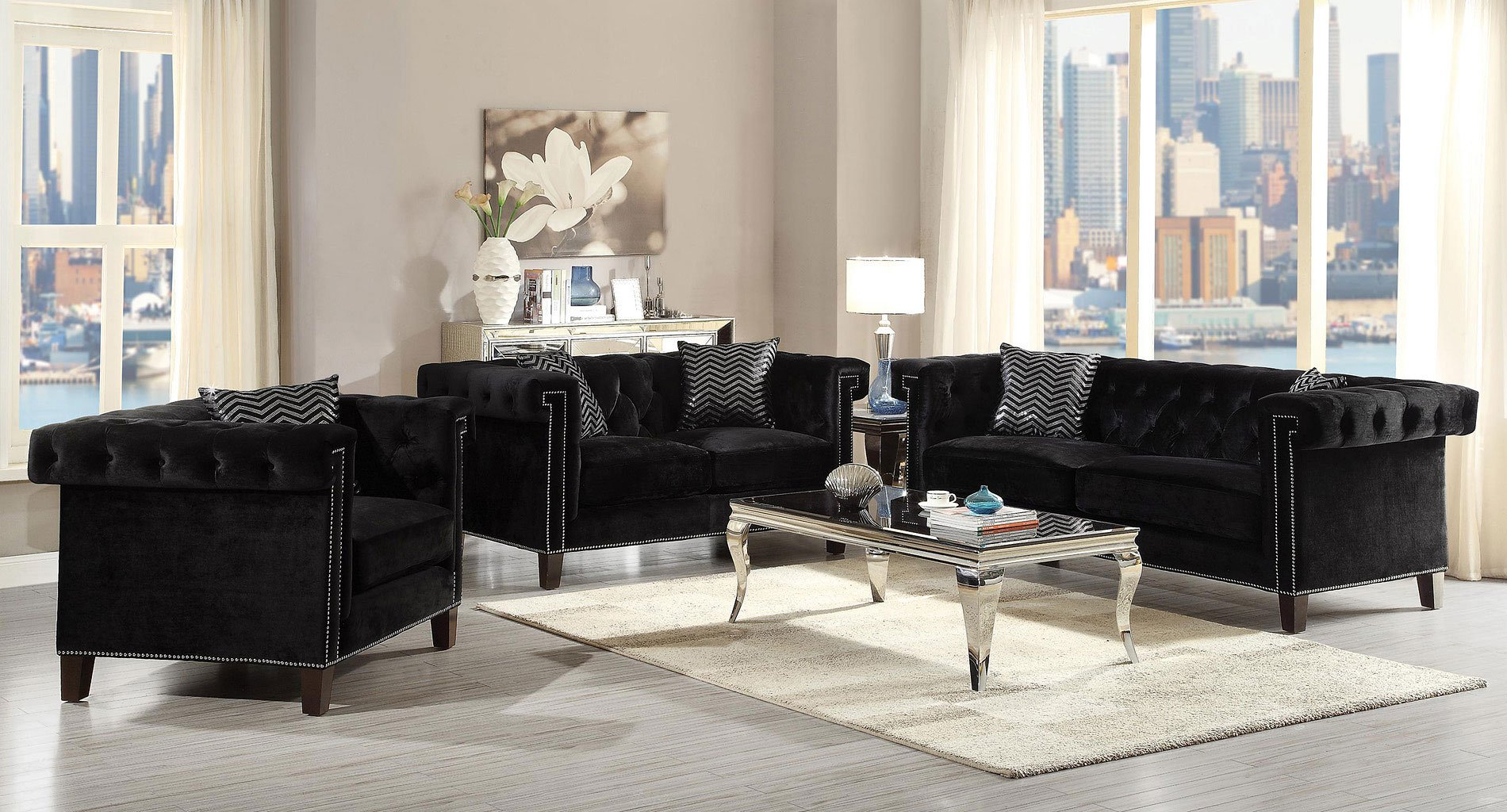 Reventlow living room set by coaster furniture 1 reviews furniturepick