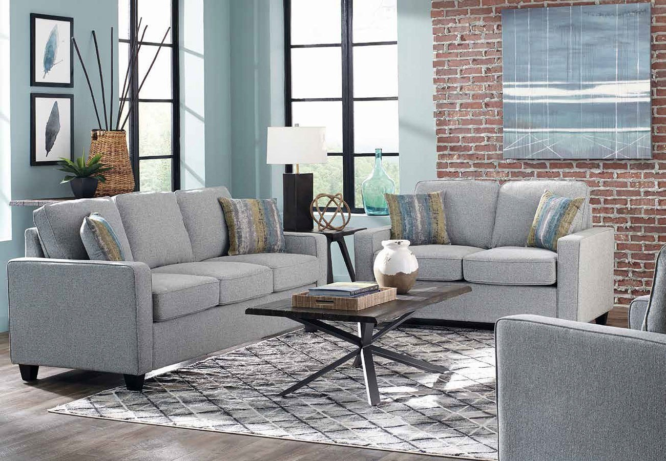 Brownswood Living Room Set (Grey) By Coaster Furniture