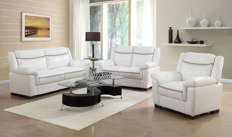 Arabella Living Room Set Snow White By Coaster Furniture Furniturepick