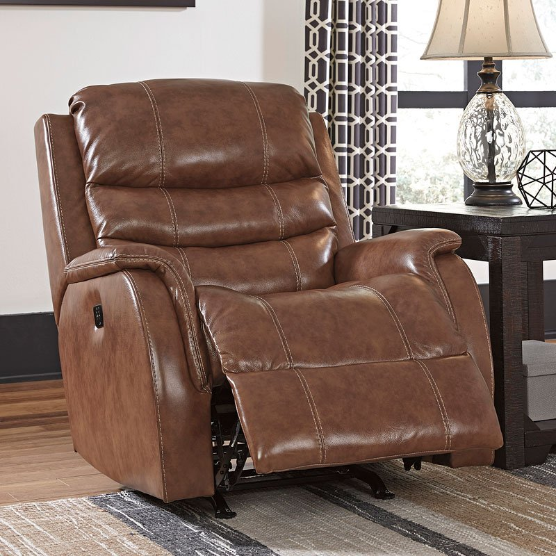 Metcalf Nutmeg Power Reclining Living Room Set By