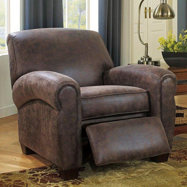 javan gunsmoke low leg recliner by signature design by