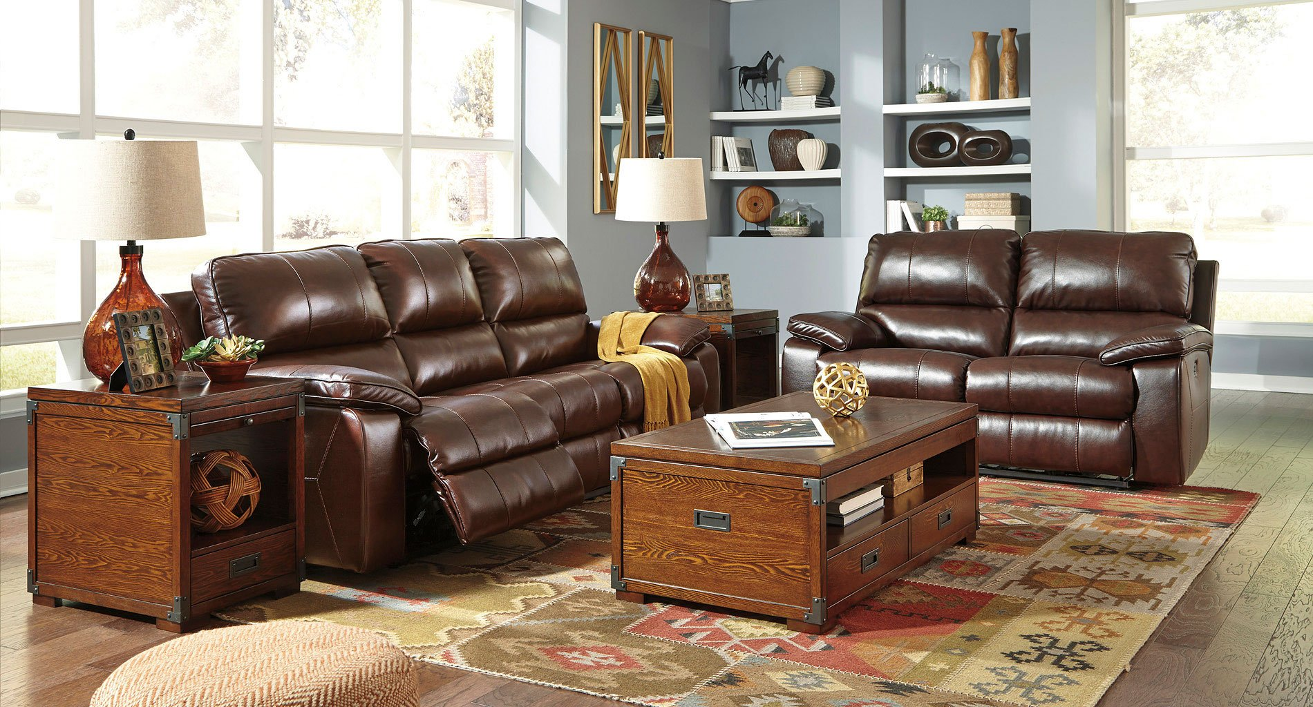 Transister Coffee Power Reclining Living Room Set By