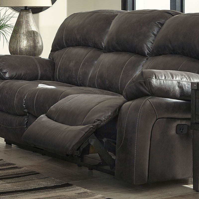 Dunwell Steel Power Reclining Sofa W Adjustable Headrest By