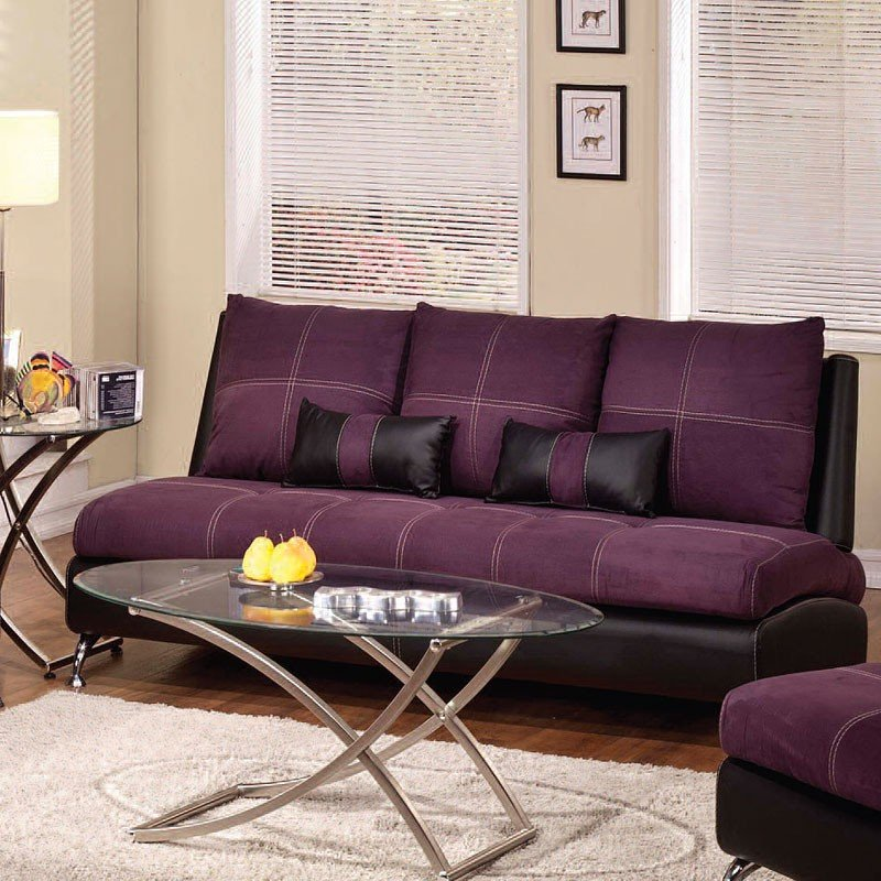 Jolie Sofa (Purple And Black) By Acme Furniture
