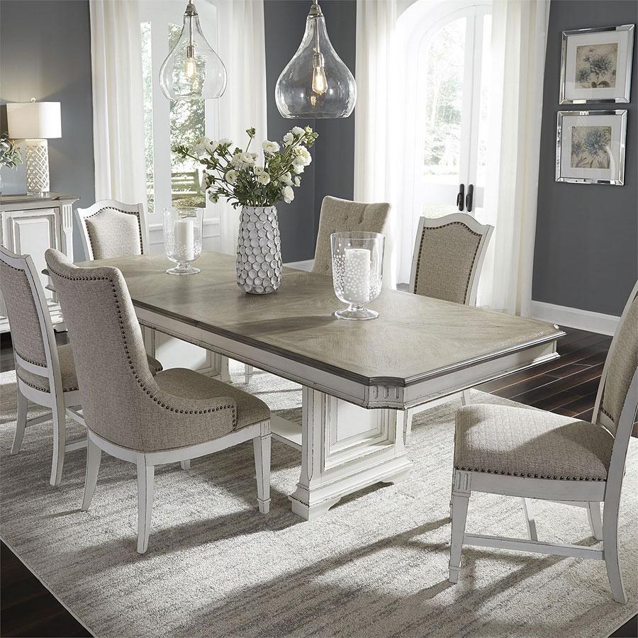 Abbey Park Trestle Dining Room Set W Chair Choices