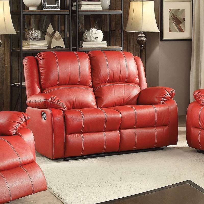 Phenomenal Zuriel Reclining Loveseat Red Evergreenethics Interior Chair Design Evergreenethicsorg