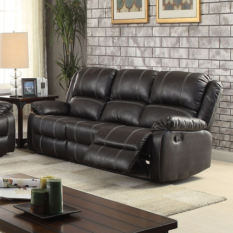 Zuriel Reclining Sofa Black By Acme Furniture