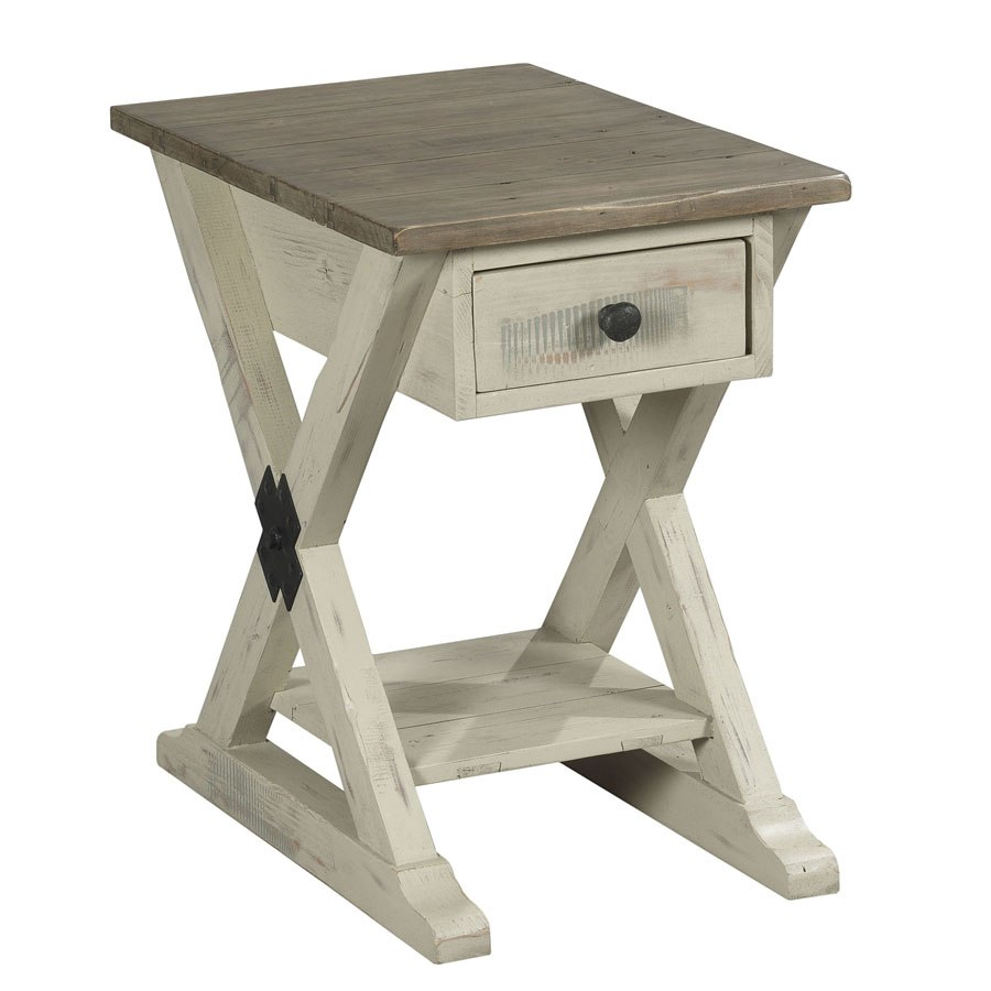 Reclamation Place Trestle Chairside Table Willow And