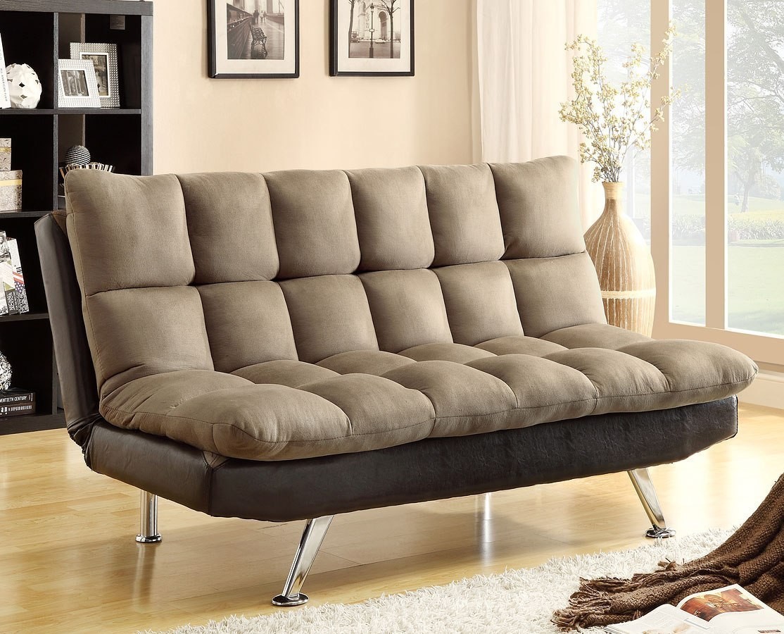 Sundown Adjustable Sofa Bed Espresso Pebble By Crown