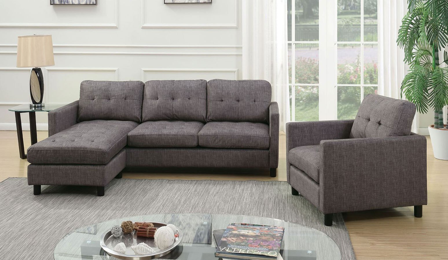3 Piece Living Room Sofa Set: Caesar 3-Piece Living Room Set By Acme Furniture