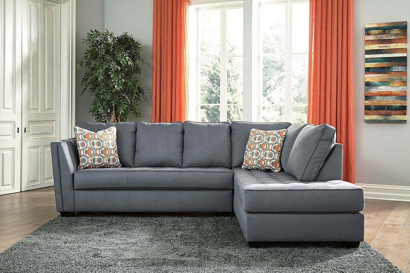 Filone Steel Right Chaise Sectional by Signature Design by ...