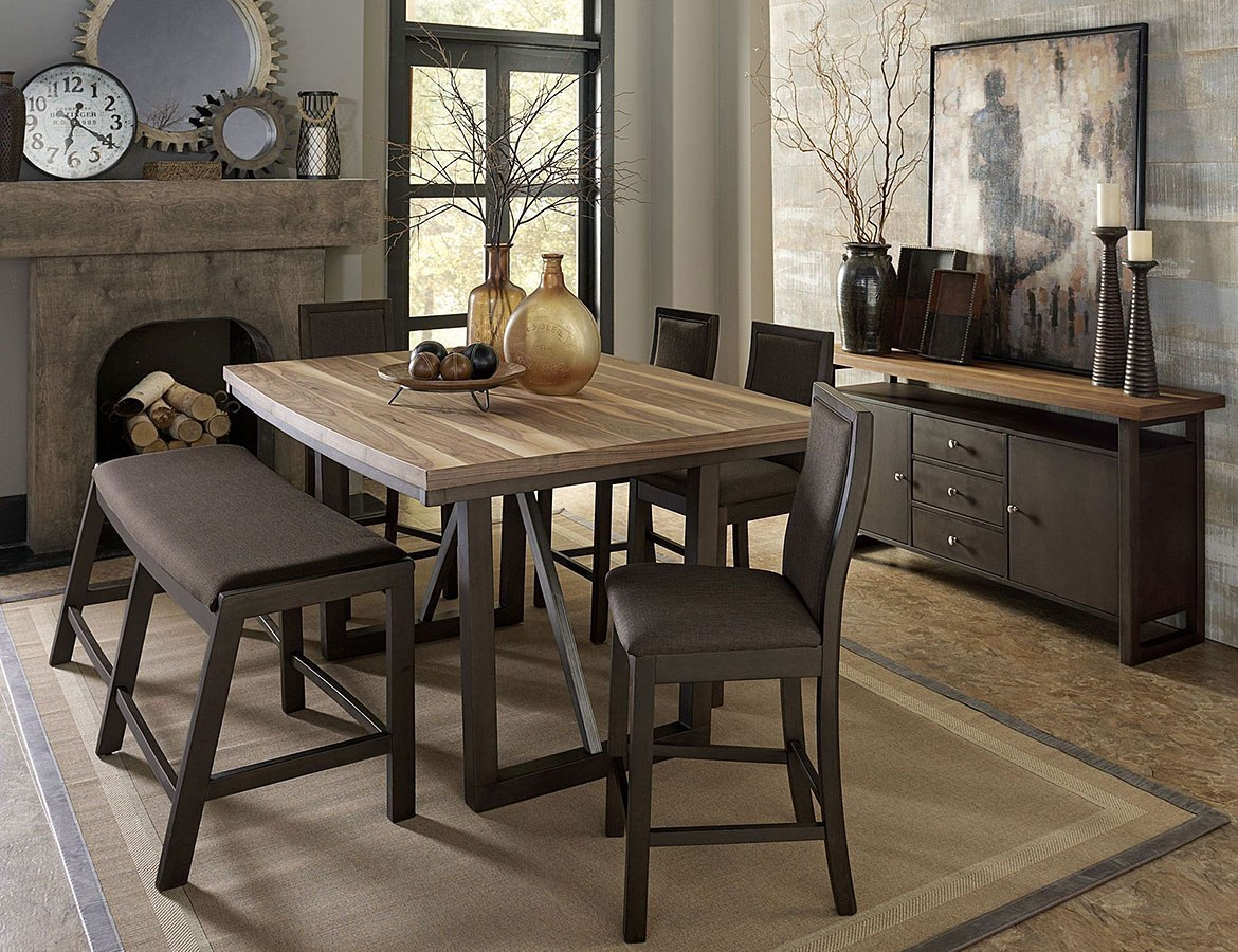 Compson Counter Height Dining Room Set W/ Bench By Homelegance