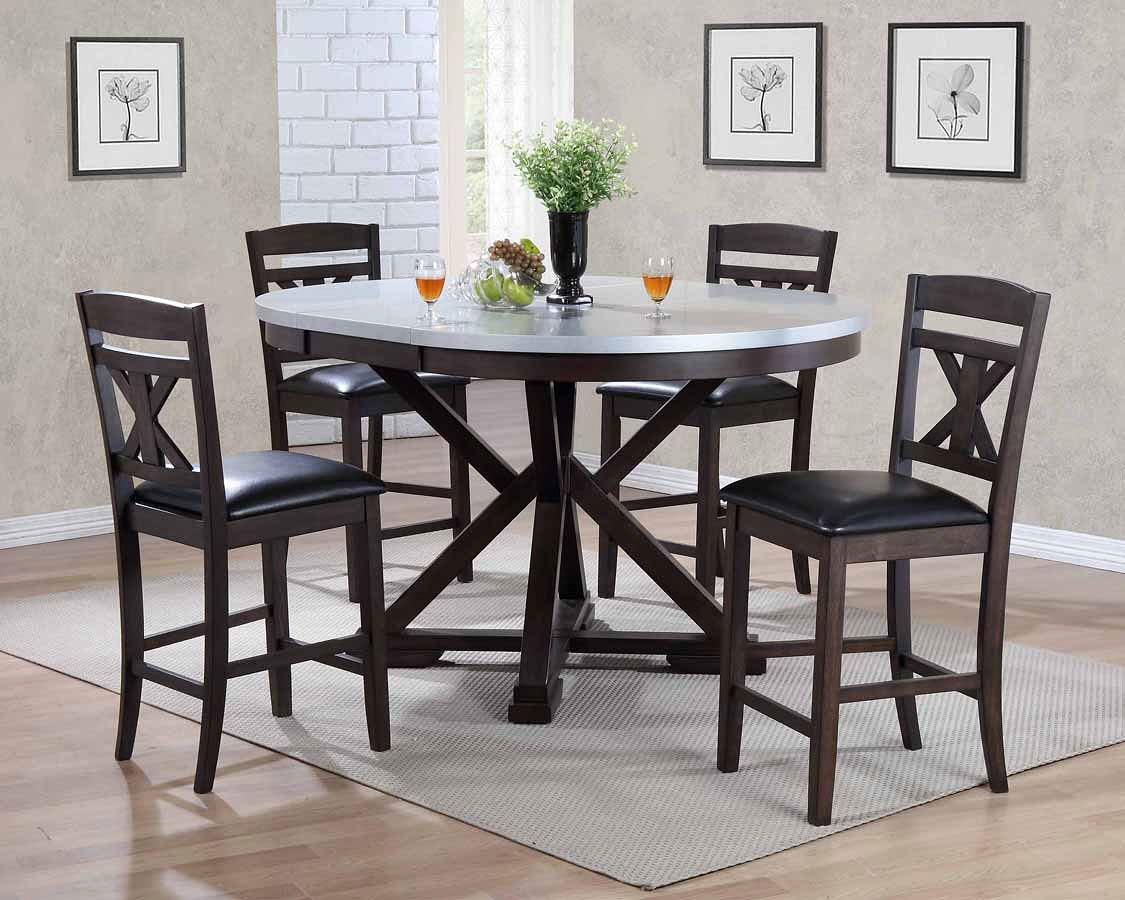 Hamilton Zinc Top Counter Dining Room Set By ECI Furniture