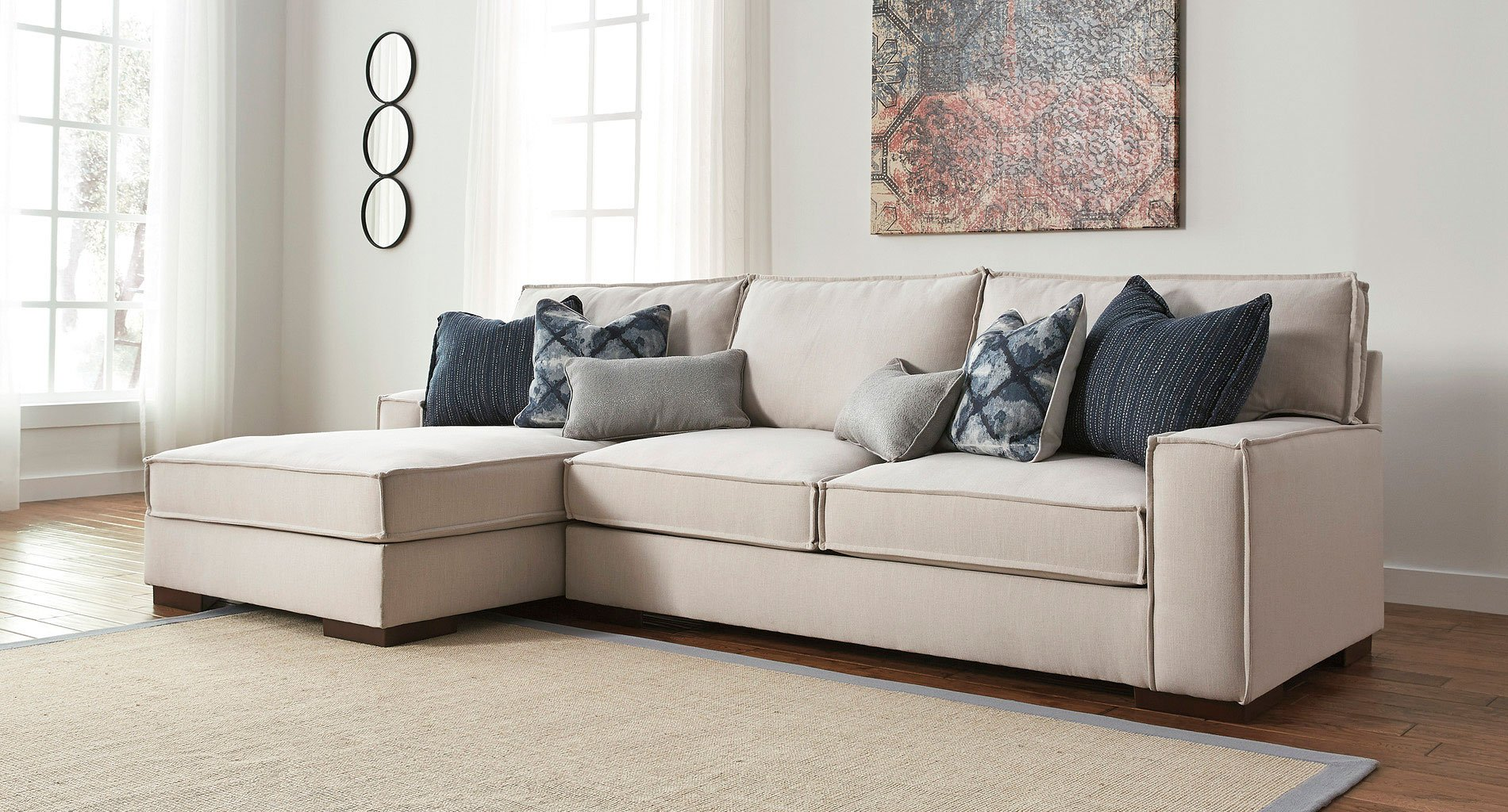 Kendleton Stone Left Chaise Sectional Sectionals