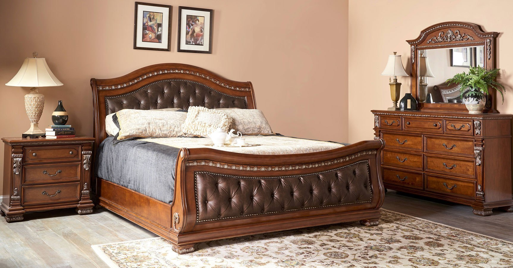 Orleans Sleigh Bedroom Set Bedroom Furniture Bedroom