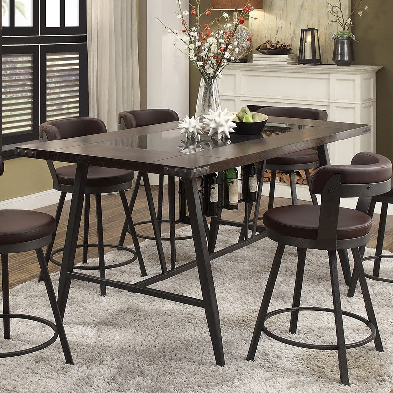 Counter Height Dining Room: Appert Counter Height Dining Room Set W/ White Chairs By