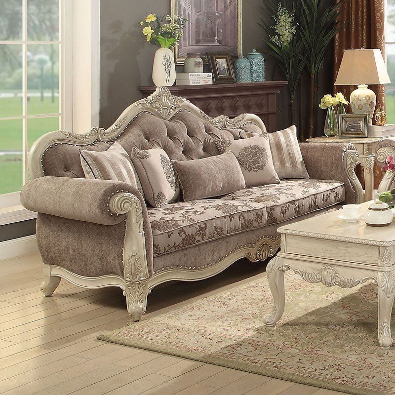 Ragenardus Living Room Set (Antique White) by Acme Furniture ...