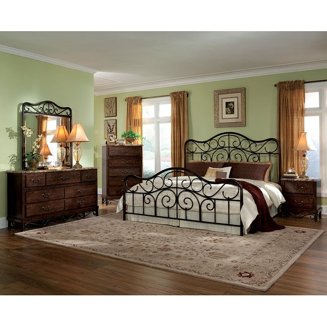 Santa Cruz Metal Bed Bedroom Set