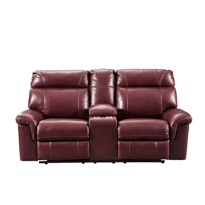 Phenomenal Duvic Crimson Power Reclining Loveseat W Adjustable Headrest Spiritservingveterans Wood Chair Design Ideas Spiritservingveteransorg