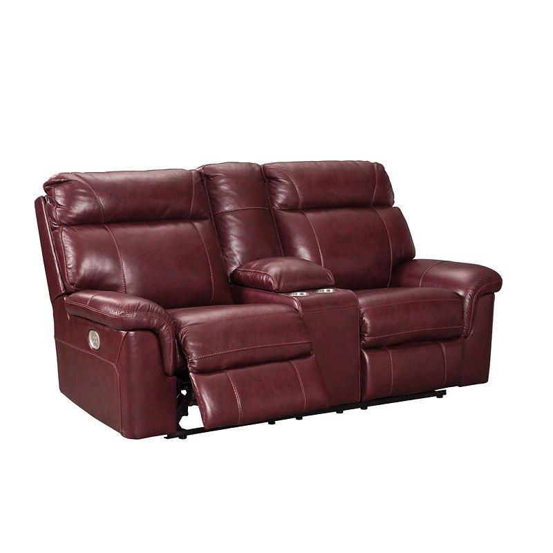 Surprising Duvic Crimson Power Reclining Loveseat W Adjustable Headrest Spiritservingveterans Wood Chair Design Ideas Spiritservingveteransorg