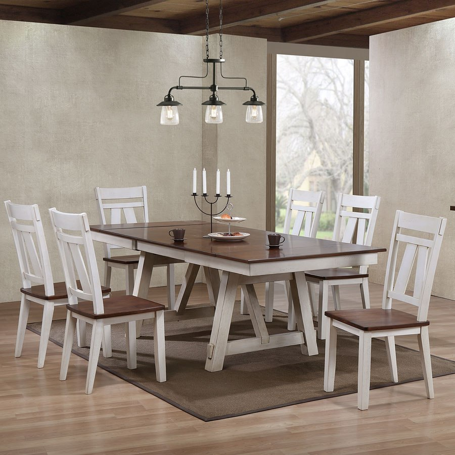 Winslow Rectangular Dining Room Set (Two-Tone) By Bernards