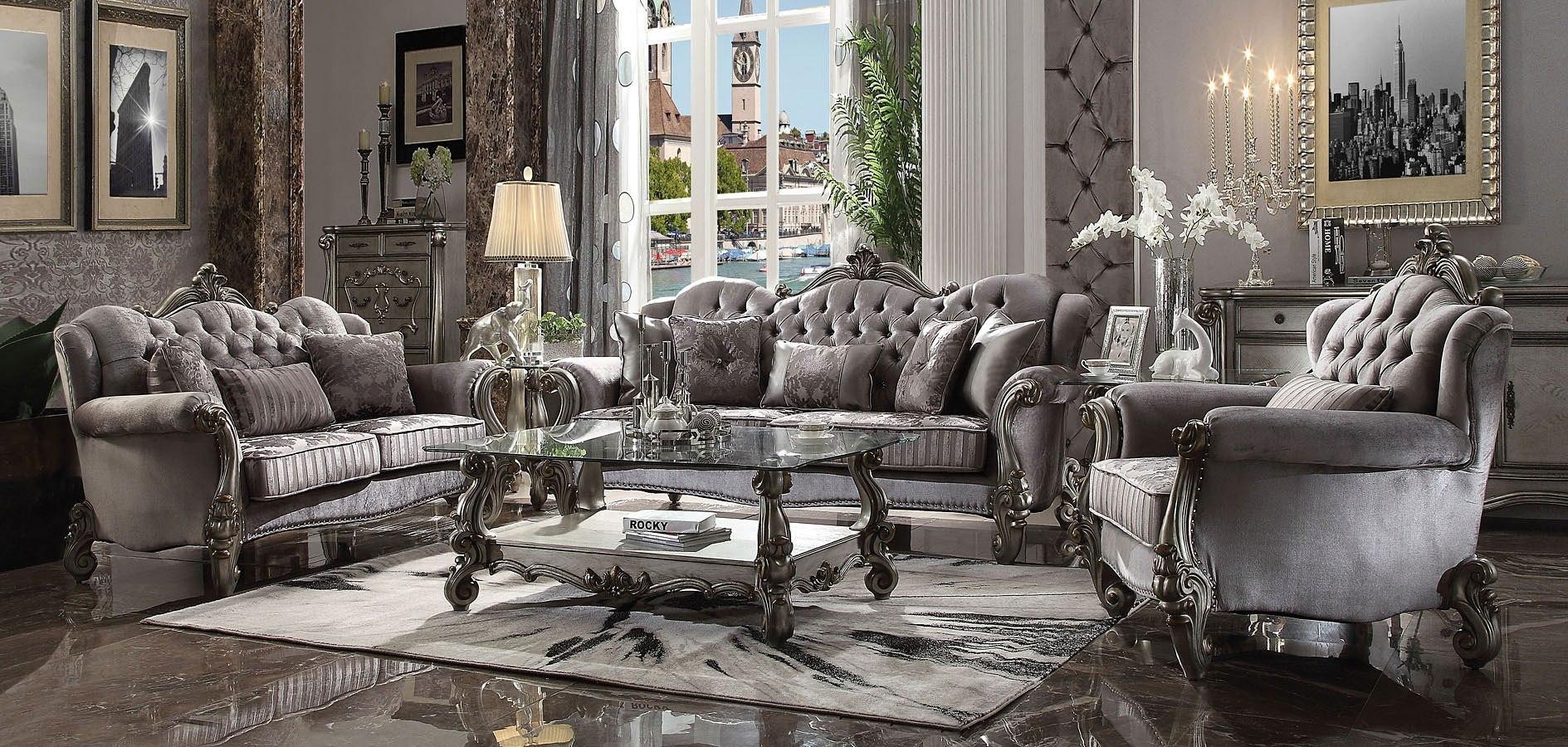 Versailles Living Room Set (Antique Platinum) by Acme Furniture ...
